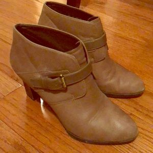 Franco Sarto tan booties